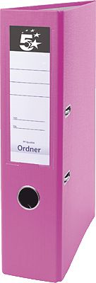 5 Star Ordner Standard Kunststoff, 75mm, rosa Büromaterial rosa Original 444952 17563