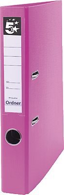 5 Star Ordner Standard Kunststoff, 47mm, rosa Büromaterial rosa Original 445745 17570