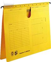 Hängehefter, gelb, Natronkarton (RC), für A4, 5 Star 202930