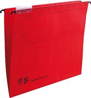 Hängemappen, rot, Natronkarton (RC), für A4, Inh. 5 Star 202957