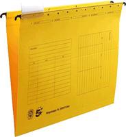 Hängemappen, gelb, Natronkarton (RC), für A4, 5 Star 202973