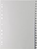 Zahlenregister A4, grau, 1-20, A4, 120my 5 Star 810232