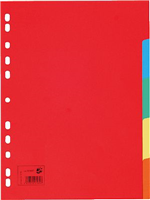 Kartonregister, blanko, 5-teilig 5 Star 914697
