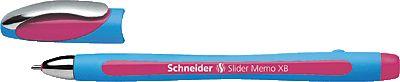 Original Schneider Büromaterial rosa 150209 Kugelschreiber Slider Memo XB rosa, hellblau 1,4