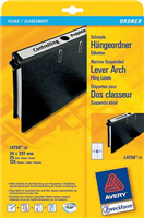 Rückenschilder , weiß, lang, schmal, 34x297, Inh. AVERY Zweckform L4756-25
