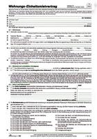 Mietvertrag für Wohnungen Standard RNK 599/10