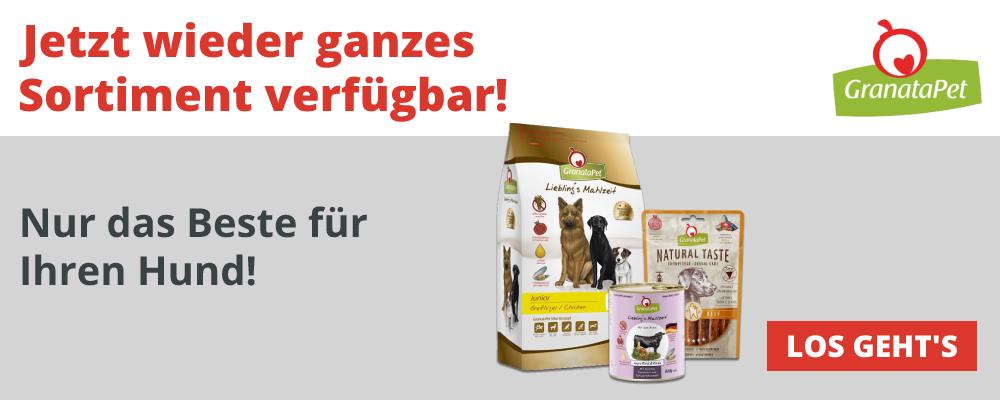 GranataPet - Komplettes Sortiment für den Hund