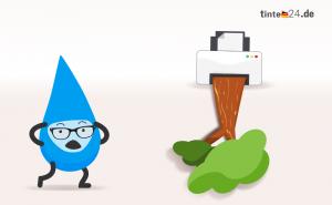 Das Büro als Papierfresser – Deutsche drucken jährlich mehr als einen halben Baum
