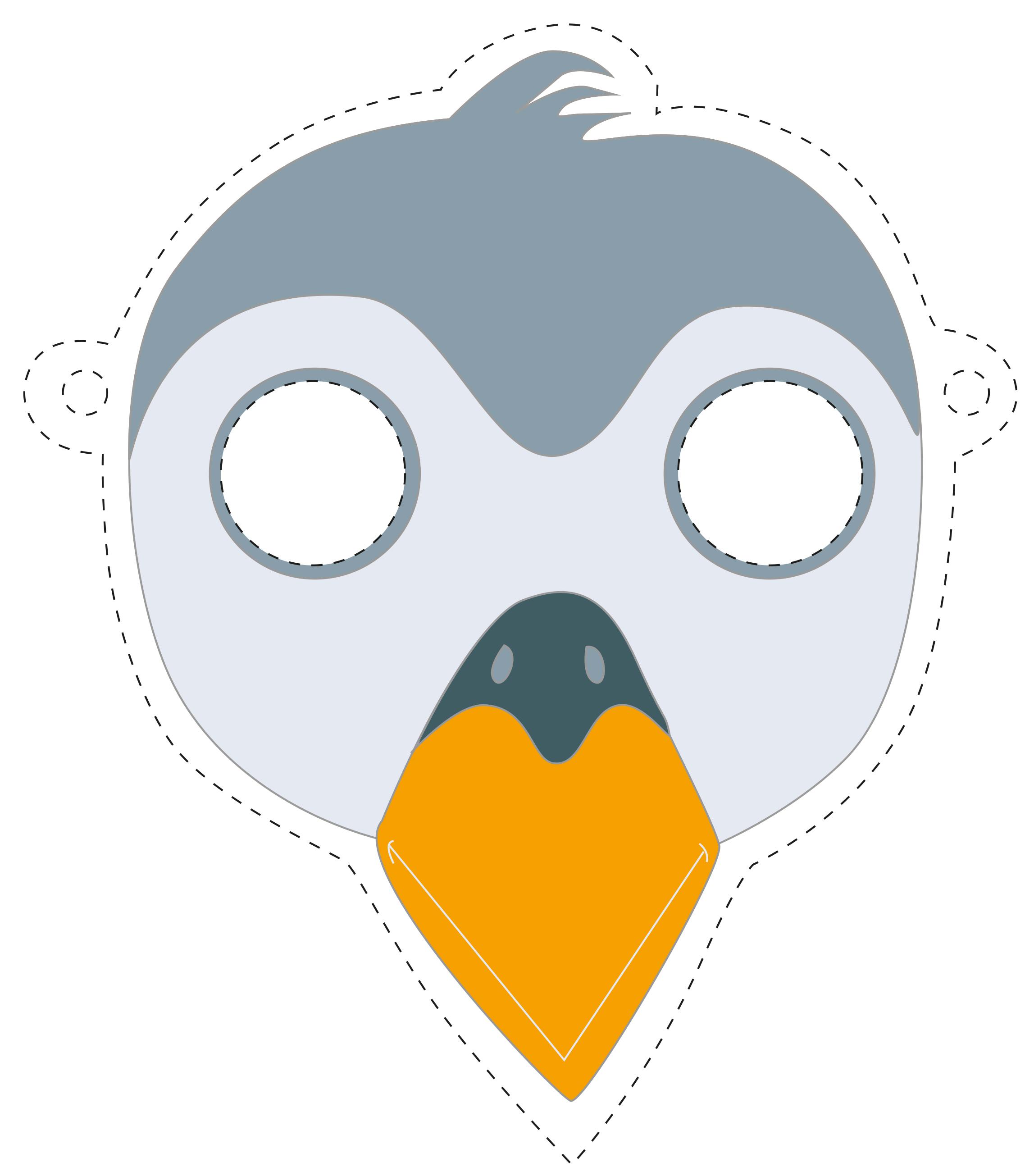 Faschingsmaske selber machen vorlage wohn design - Pinguin basteln vorlage ...