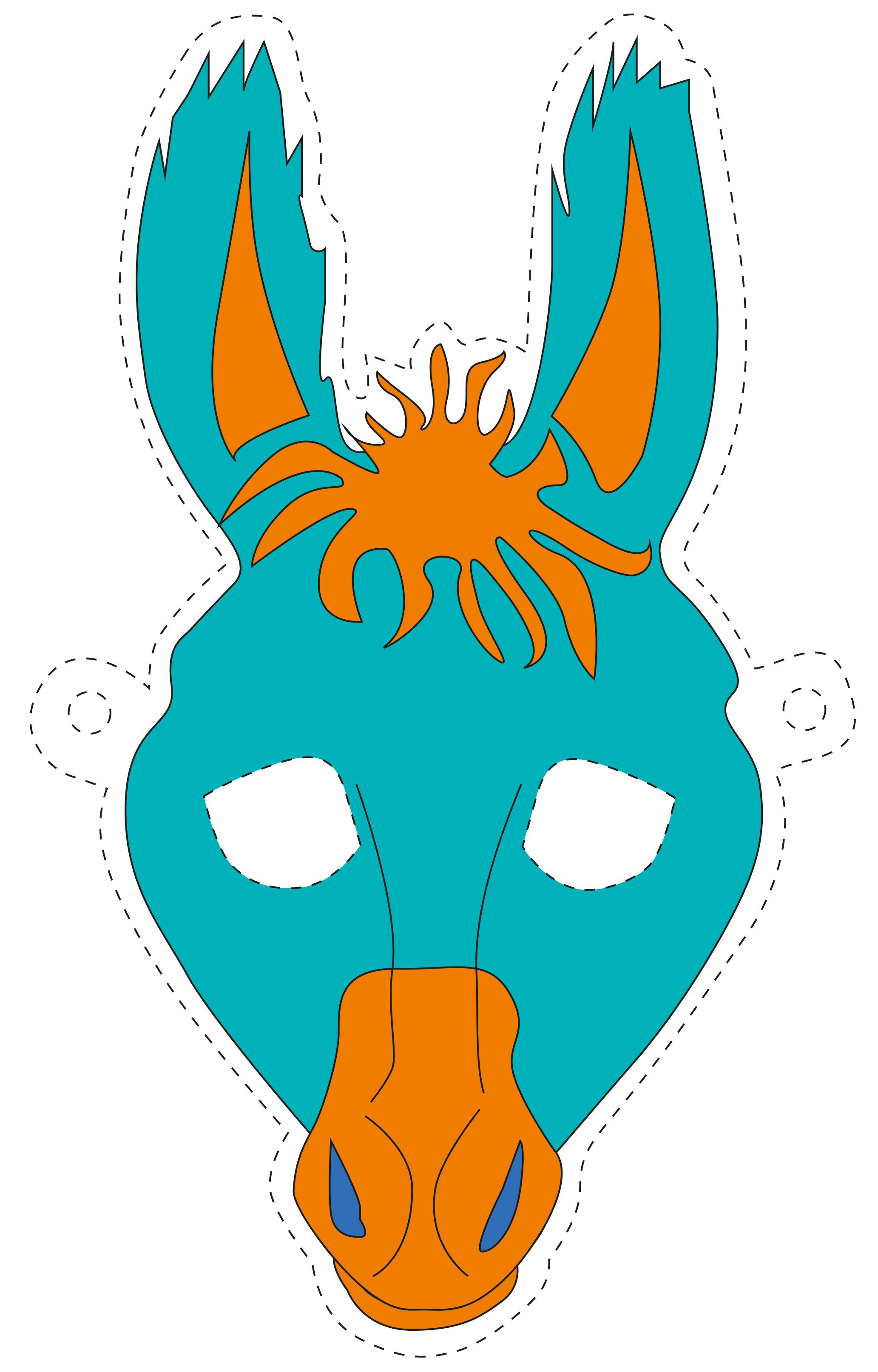 druckvorlagen masken aktion prindo zoo. Black Bedroom Furniture Sets. Home Design Ideas