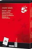 Inkjetetikett 70x37mm weiß selbstklebend Inh. 5 Star 296743