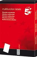 Inkjetetikett 70x42,3mm weiß selbstklebend Inh. 5 Star 850467