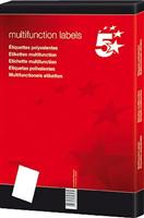 Inkjetetikett 64,6x33,8mm weiß selbstklebend 5 Star 912374