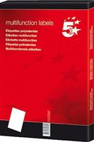 Inkjetetikett 48x25,4mm weiß selbstklebend Inh. 5 Star 928946