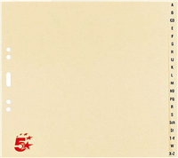 Tauenregister, chamois, TauenPapier, A4, halbe 5 Star 233064