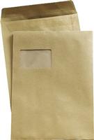 Versandtaschen, braun, DIN C4, mit Fenster, 90g 5 Star 240722