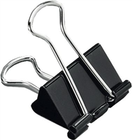 Foldback-Klammern, schwarz, 25mm, Inh. 12 5 Star 296867