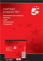Laserfolie A4 klar 0,10mm Inh. 100 Stück 5 Star 333255