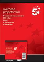 Inkjetfolie A4 klar 0,10mm Inh. 50 Stück 5 Star 333263