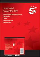 Kopierfolie A4 klar 0,10mm Inh. 100 Stück 5 Star 333360