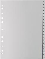 Kunststoffregister A - Z, grau, A-Z, A4 volle 5 Star 709931