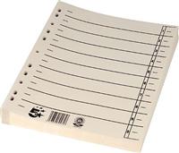 Trennblätter , chamois, RC Karton, 30x24cm, Inh. 5 Star 794753