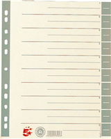 Trennblätter farbig, grau, RC Karton, 30x24cm, 5 Star 794761