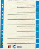 Trennblätter farbig, blau, RC Karton, 30x24cm, 5 Star 794907