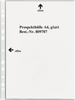 Prospekthüllen, glasklar, PP, Öffung oben+links, 5 Star 809707
