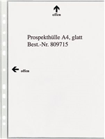 Prospekthüllen, glasklar, Öffung oben+links, PP, 5 Star 809715