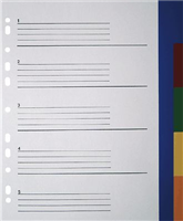 PP-Register Überbreite, 5-farbig, 5-teilig, B230 5 Star 850769