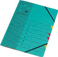 Ordnungsmappe 7-teilig, A4, grün 5 Star 907395