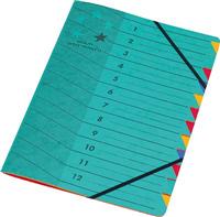 Ordnungsmappe 12-teilig, A4, grün, 5 Star 907433