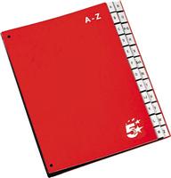 Pultordner A-Z, rot, A-Z 5 Star 907468