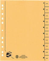 Trennblätter vollfarbig, gelb, RC Karton, 5 Star 914727