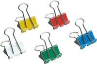 Foldback-Klammern, farblich sortiert, 41mm, Inh. 5 Star 925192