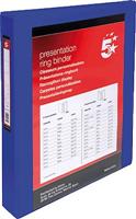 Präsentationsringbuch für DIN A4 25 mm blau 52 mm 5 Star 962219