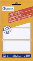 Adressetiketten zickzack AVERY Zweckform 3344