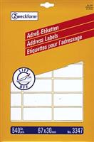 Adressetiketten Bogen AVERY Zweckform 3347