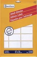 Adressetiketten Bogen AVERY Zweckform 3348