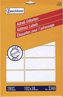 Adressetiketten Bogen AVERY Zweckform 3349