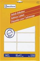 Adressetiketten Bogen AVERY Zweckform 3350