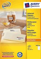 Universal Etikett AVERY Zweckform 3478-200