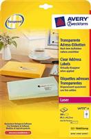 Laser-Etiketten AVERY Zweckform L4772-25