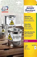 wetterfest Folien-Etikett AVERY Zweckform L4776-20