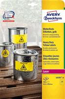 wetterfest Folien-Etikett AVERY Zweckform L6105-20