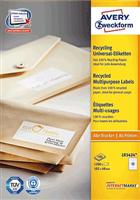 Recycling Universal-Etikett AVERY Zweckform LR3424