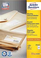 Recycling Universal-Etikett AVERY Zweckform LR3475