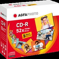 Agfa Photo 1x5 CD-R / 700 MB / caja de joyas