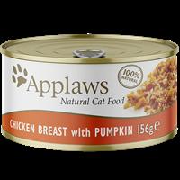 Applaws Natural Cat Tins - 156 g - Huhn & Kürbis (0746517)